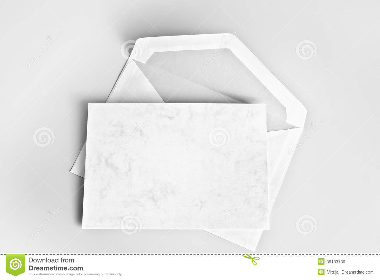 Blank Stationery  Card And Envelope Stock Photo   Image  36183730
