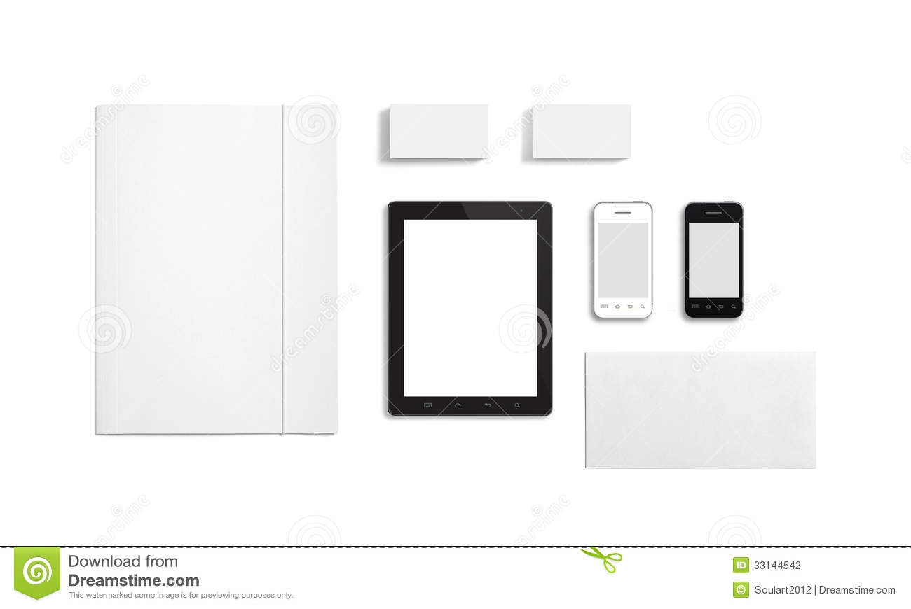 Blank stationery corporate id template stock image image 34896565 blank stationery corporate id template stock photography pronofoot35fo Image collections
