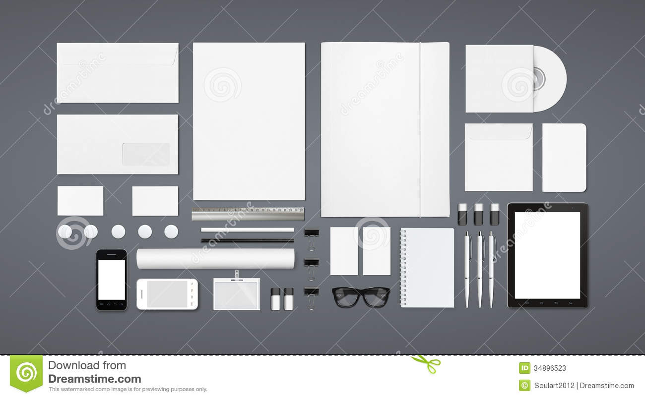 blank stationery corporate id template stock image image of
