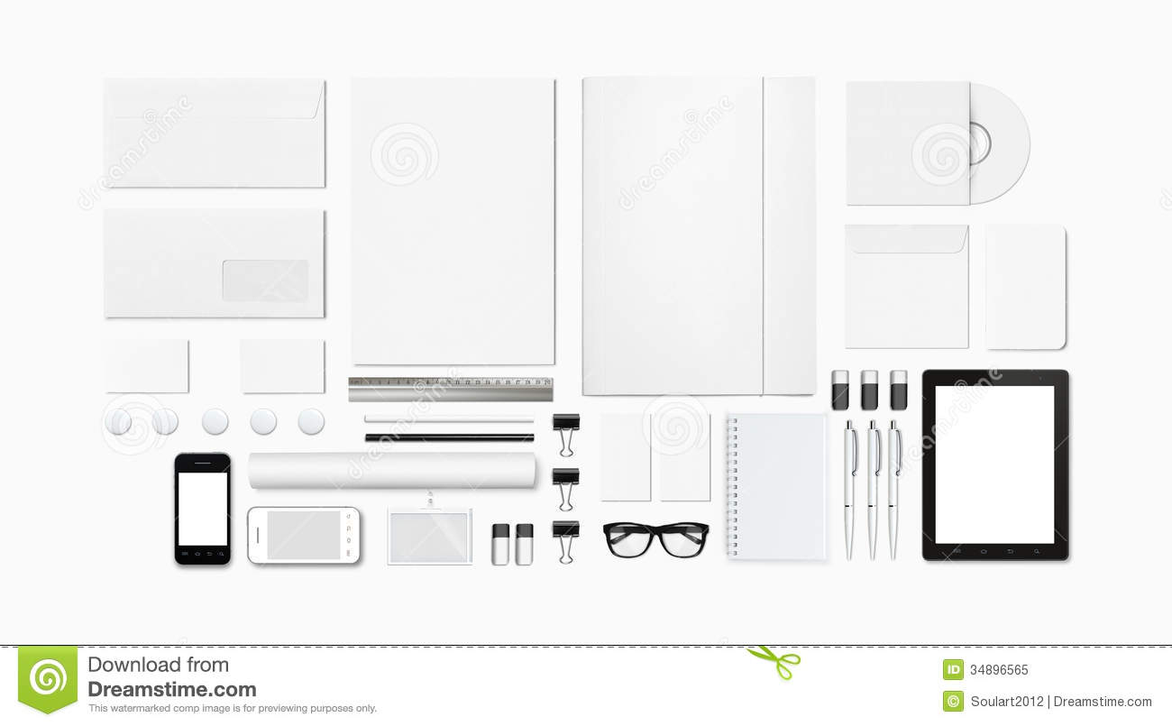 Blank Stationery / Corporate ID Template Stock Image - Image of ...