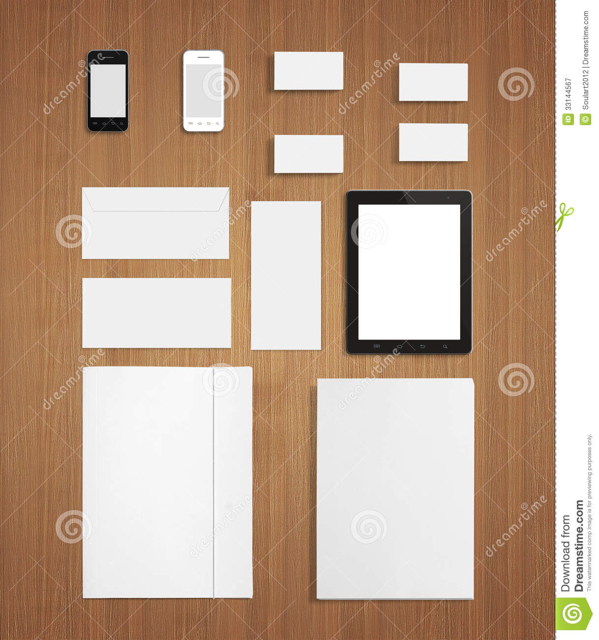Blank Stationery And Corporate Identity Template Consist