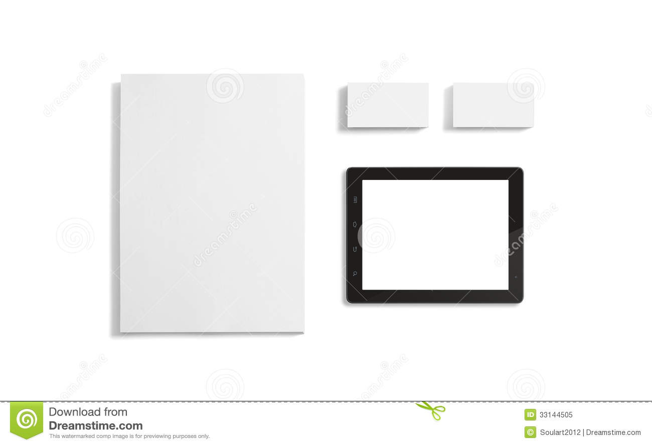 Blank stationery corporate id template stock image image of note blank stationery corporate id template cheaphphosting Image collections