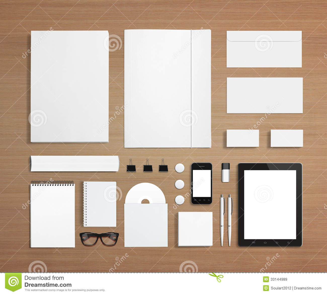 Blank Stationery And Corporate Id Template Stock Image Image Of