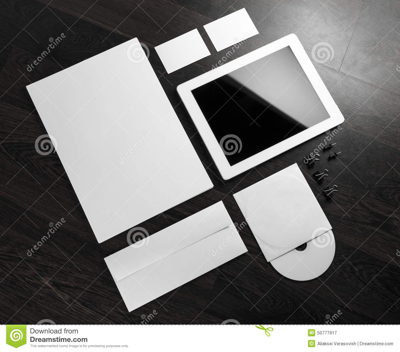 Blank Stationery And Corporate Identity Template Consist: Blank Stationery Stock Image. Image Of Objects, Order