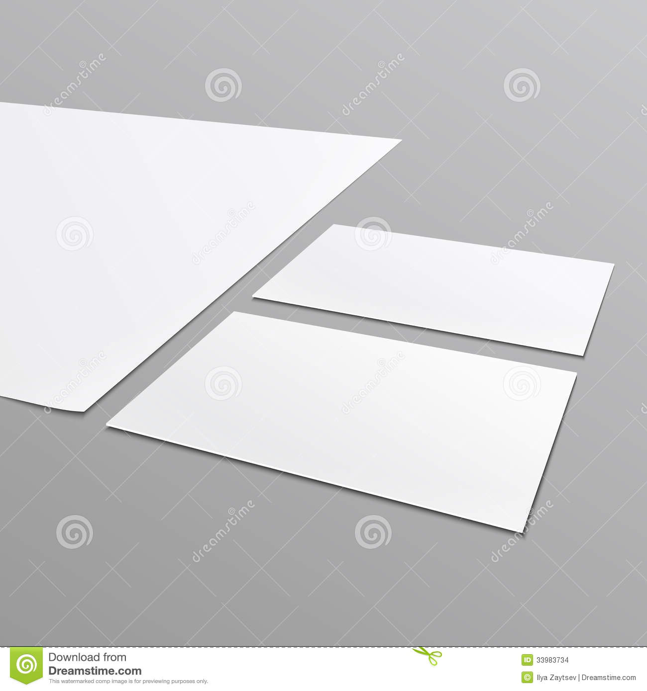 Blank Stationery Layout, A4 Paper, Business Card. Stock Vector ...