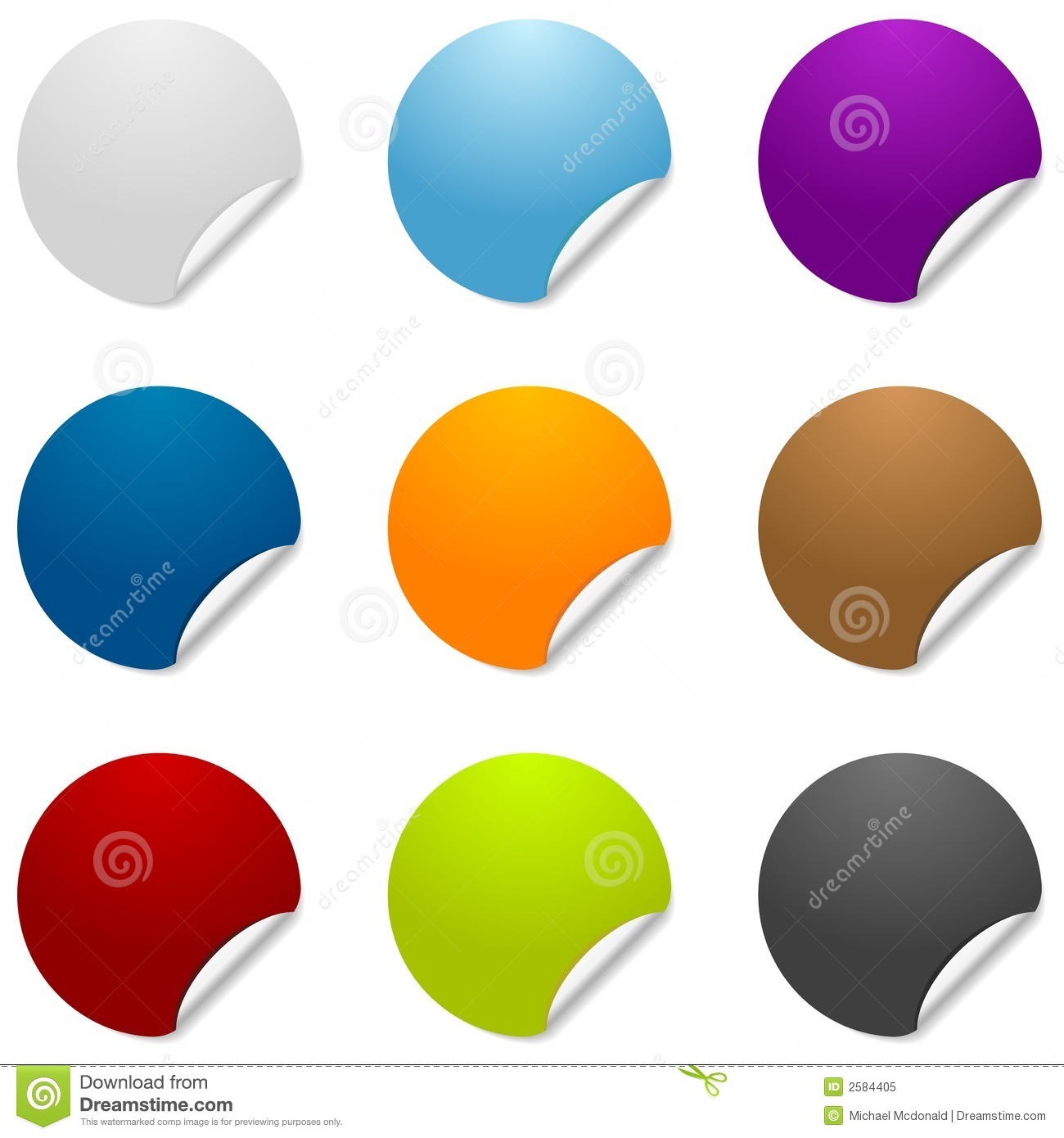 Blank Sticker Icons Royalty Free Stock Photo Image 2584405
