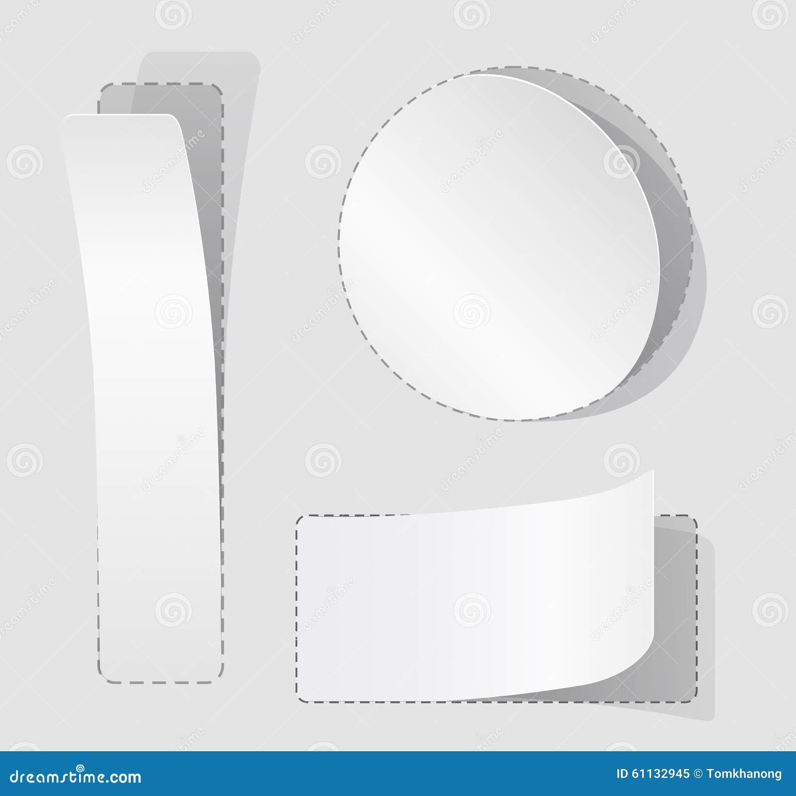 blank sticker modern template vector stock vector illustration of