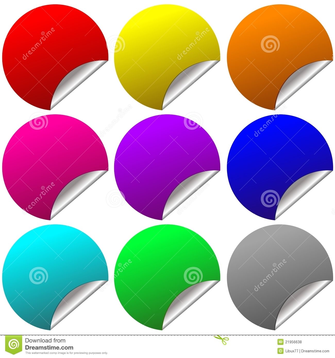 Blank Stickers Royalty Free Stock Photos - Image: 21956638