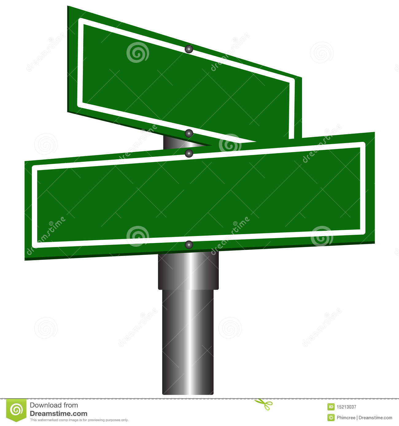 Blank Street Signs stock vector. Illustration of business ...