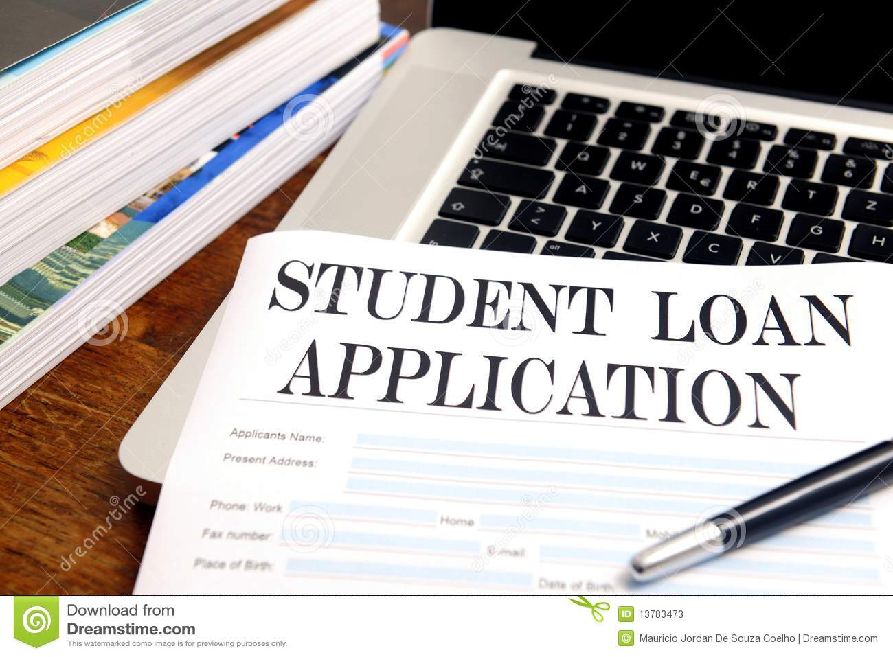 student finance support an application form