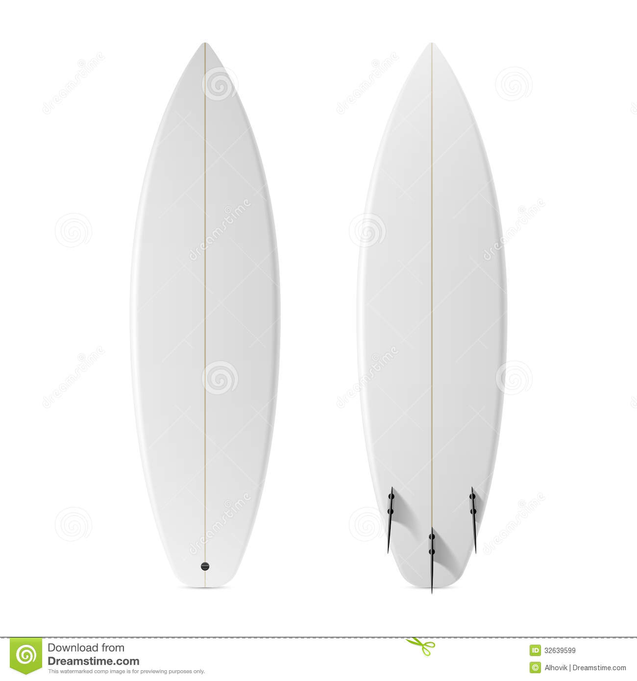 Blank Surfboard Royalty Free Stock Images - Image: 32639599