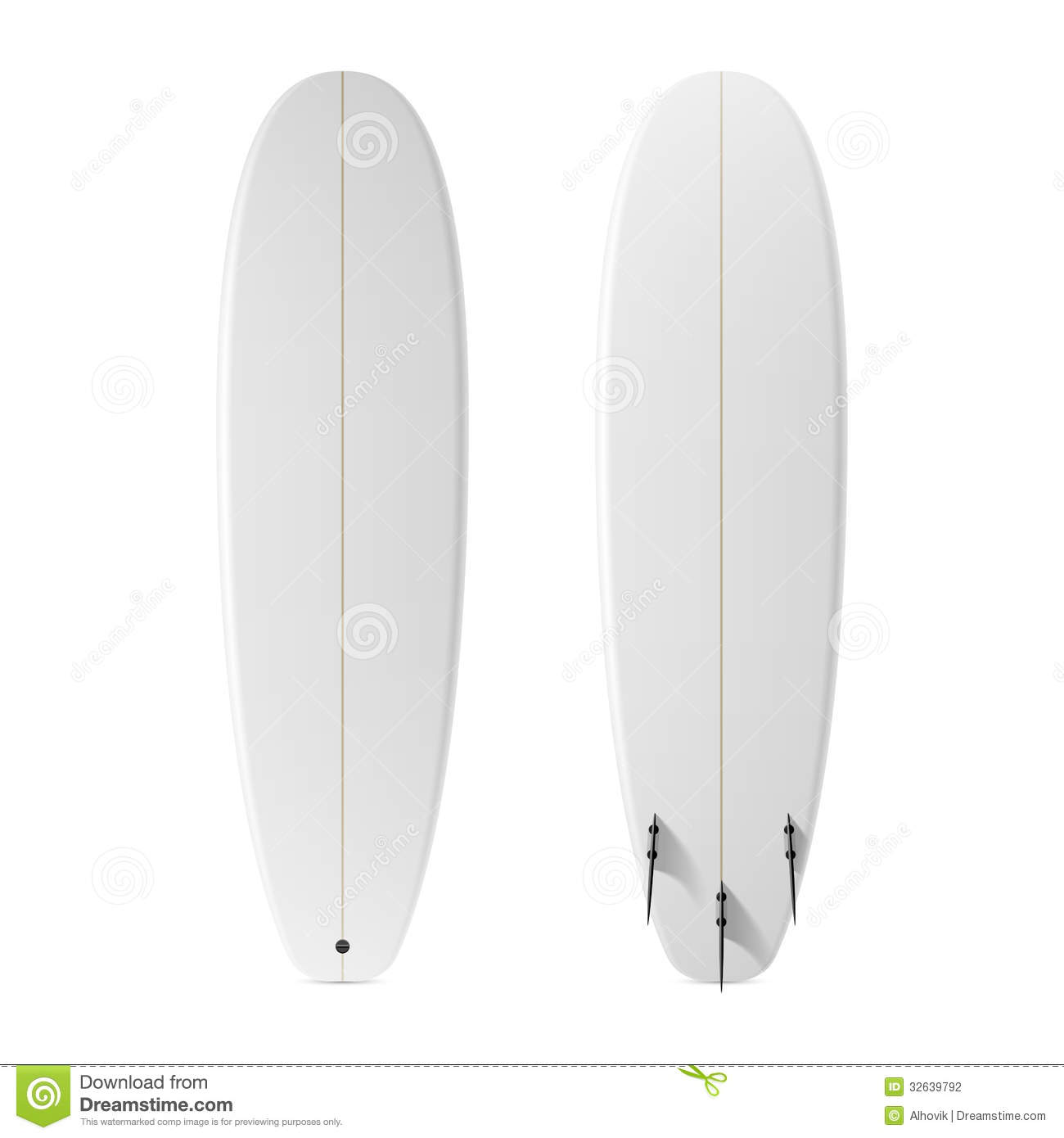 Blank Surfboard Stock Vector Illustration Of Image Vacations