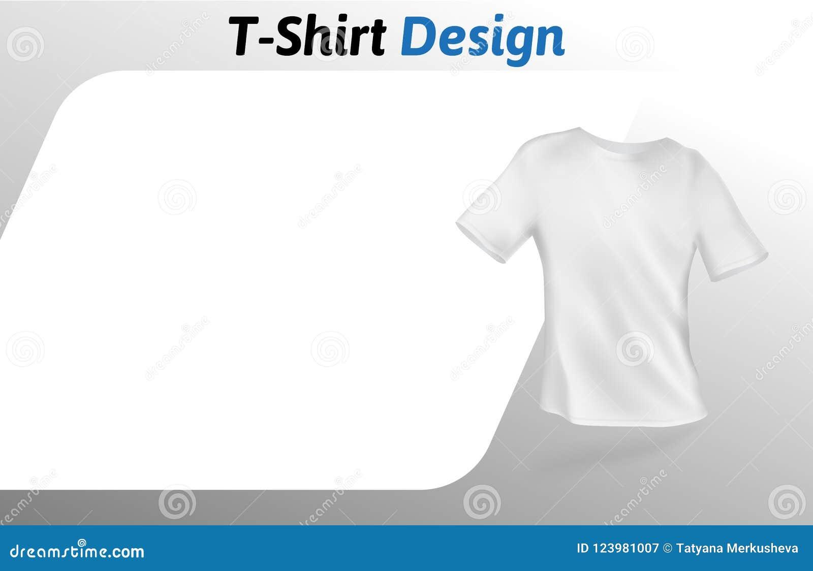 Blank T Shirt Design Template Mock Up Vector Illustration