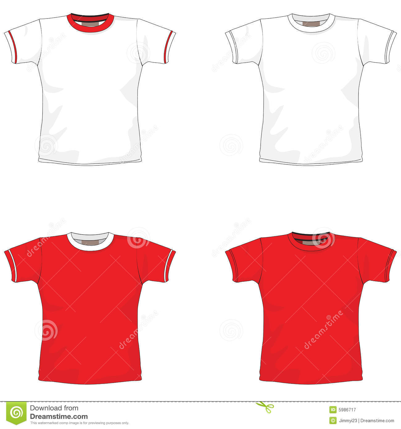 Blank T Shirt Red Royalty Free Stock Photography Image