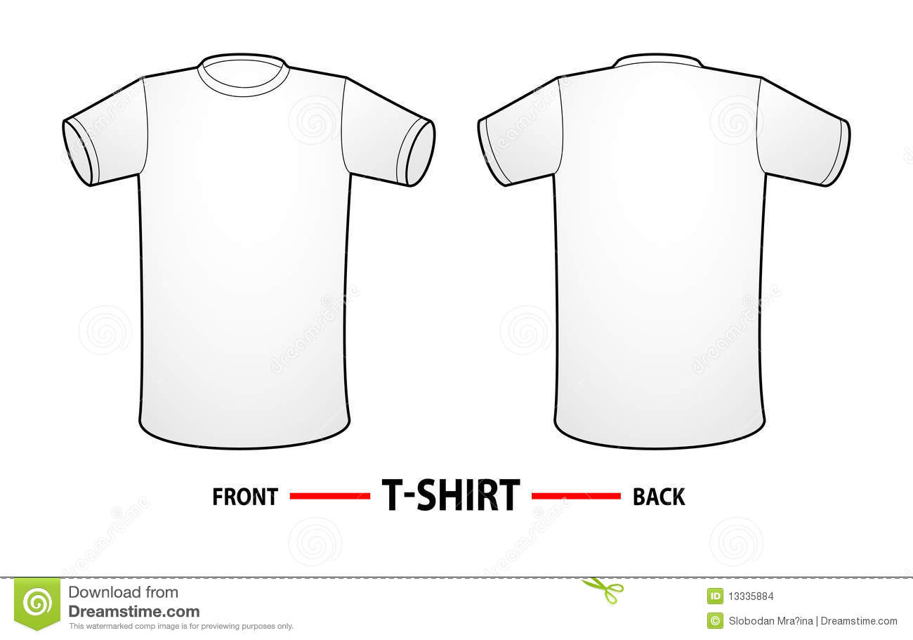 Blank template of a t-shirt. Front and back of a shirt, ideal for web ...