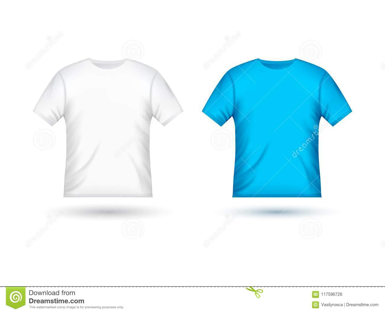 Blank T Shirt Template Clothing Fashion White And Blue Shirt Design