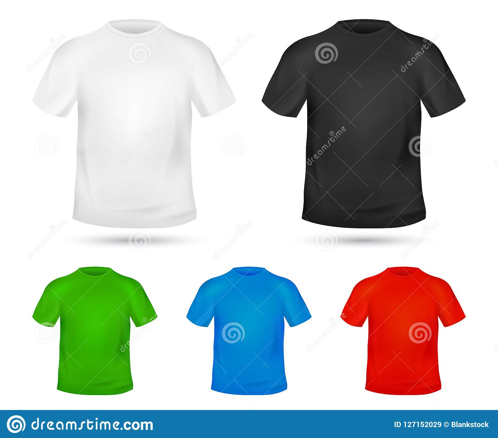 picture about Printable T Shirt Template identified as Blank T-blouse Template. Distinction Hues Mock-up T Blouse