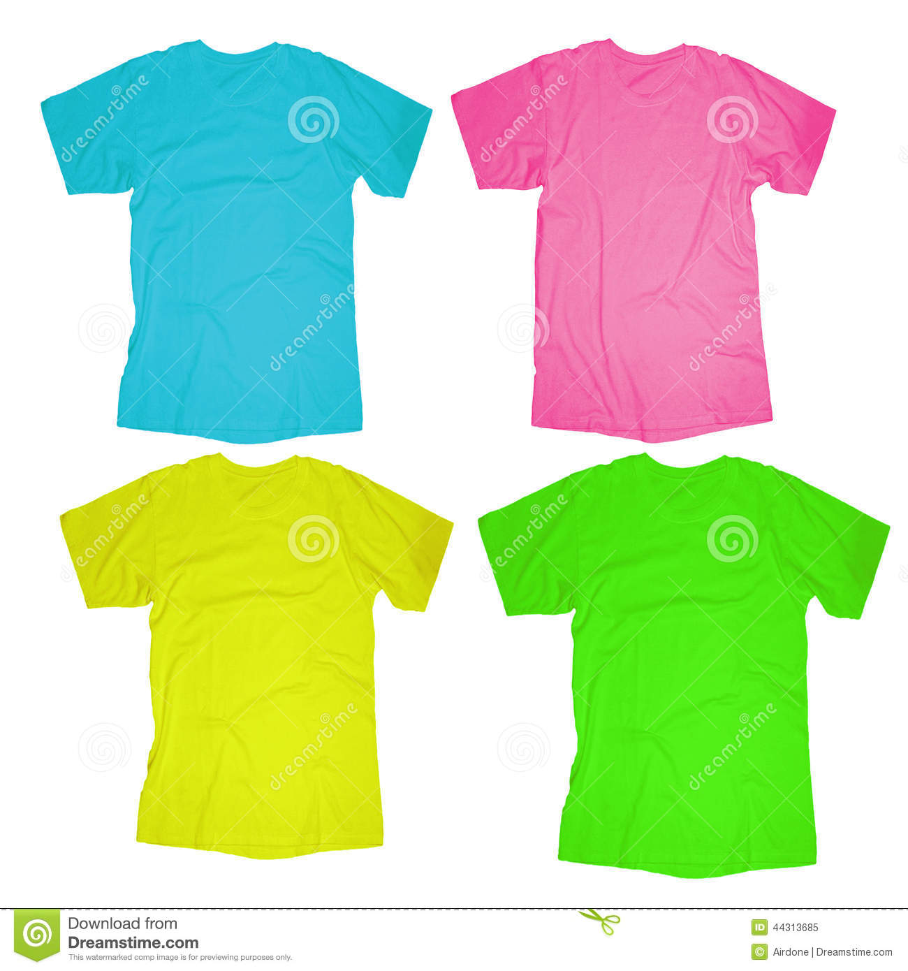 Blank T Shirt Template Stock Image Image Of Green Garment