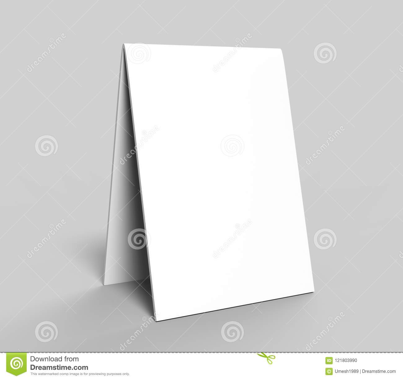graphic relating to Printable Tent Card known as Blank Desk Tent Card For Design and style Presentation Or Mock Up