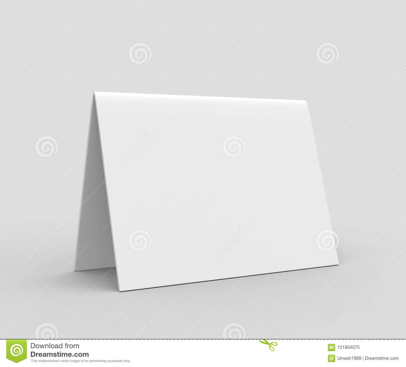 image about Printable Tent Card known as Blank Desk Tent Card For Design and style Presentation Or Mock Up