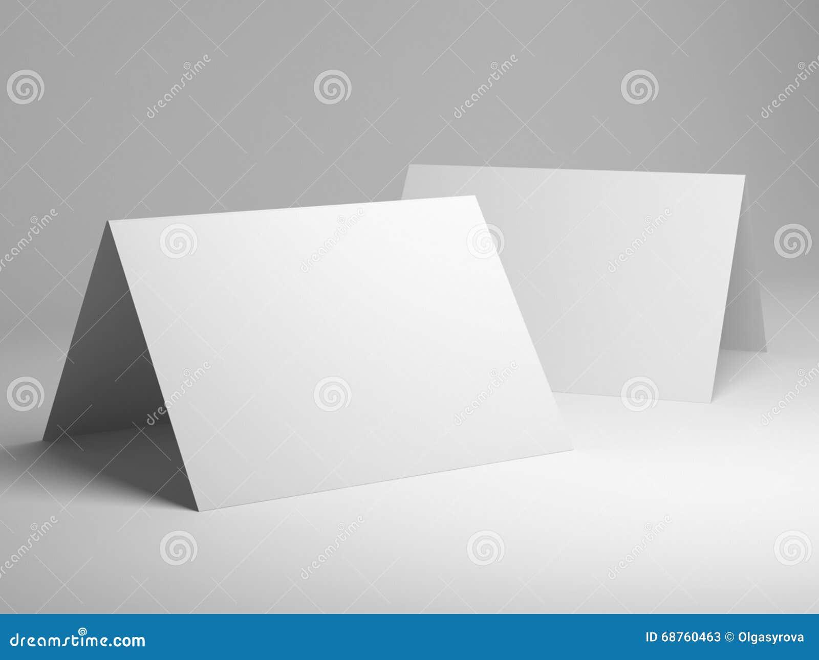 blank template of folded postcard stock illustration. Black Bedroom Furniture Sets. Home Design Ideas