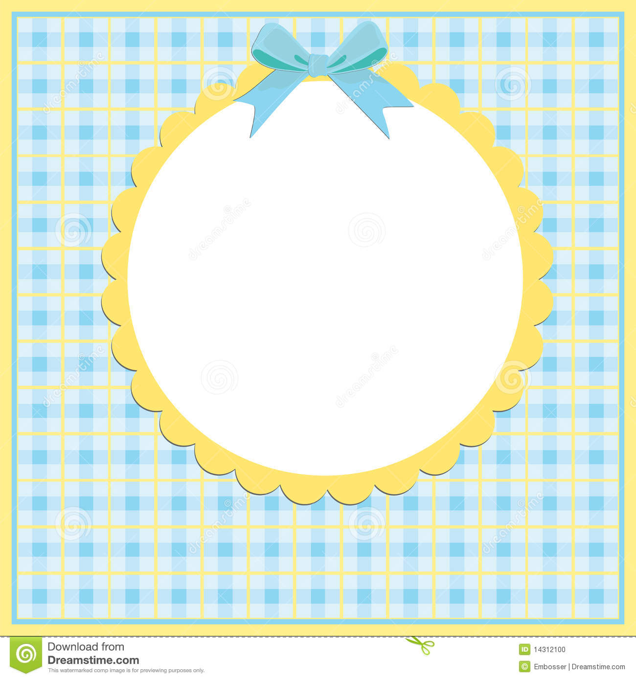 blank template for greetings card stock vector