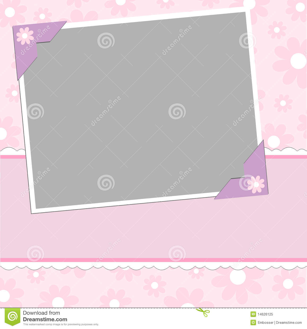 Blank Template For Greetings Card Royalty Free Stock Photo - Image ...