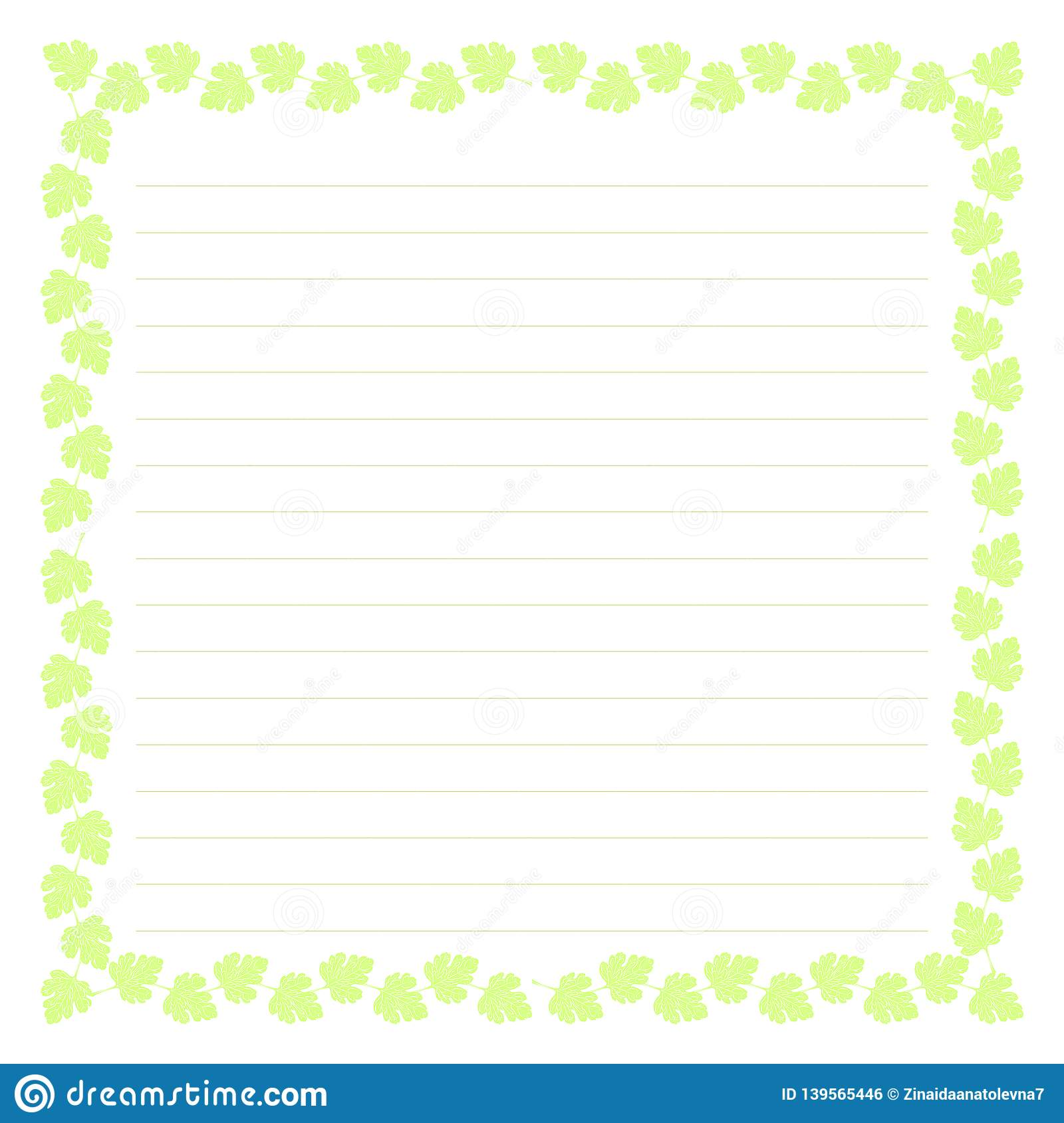 Blank Planner With Illustration Sheet Background For