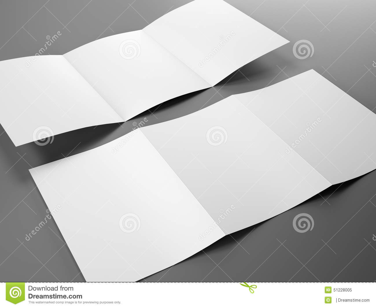 blank template of trifold brochure a4 size royalty free illustration