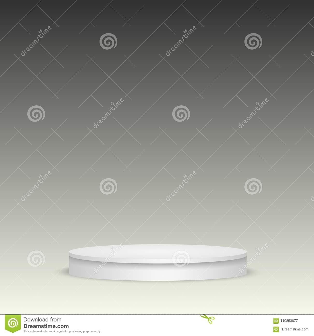blank template of white podium scene musical theater concert or