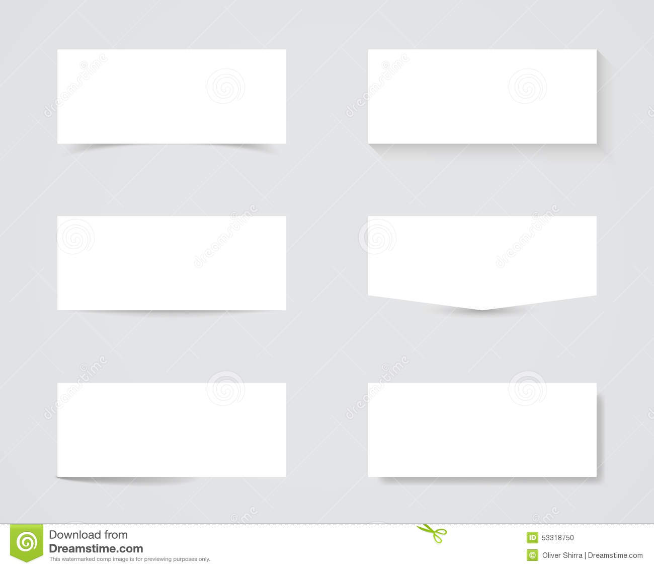 blank text box shadows stock vector illustration of business 53318750