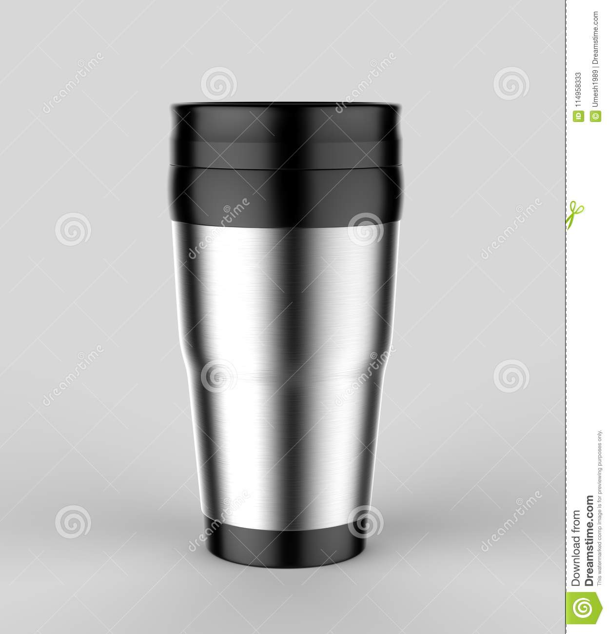 Blank Thermos Travel Tumbler Mug For Design Presentation Or Mock Up Design 3d Render Illustration Stock Illustration Illustration Of Mockup Design 114958333