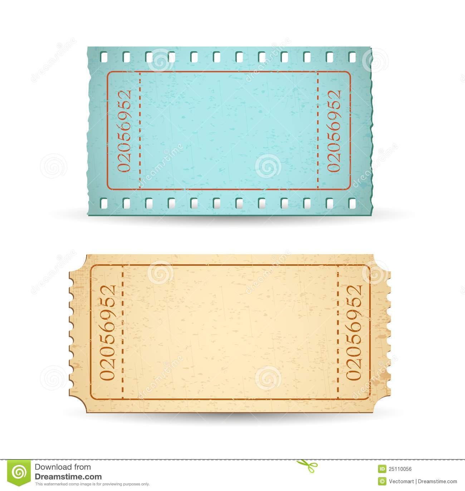 Blank Ticket Royalty Free Stock Image Image 25110056