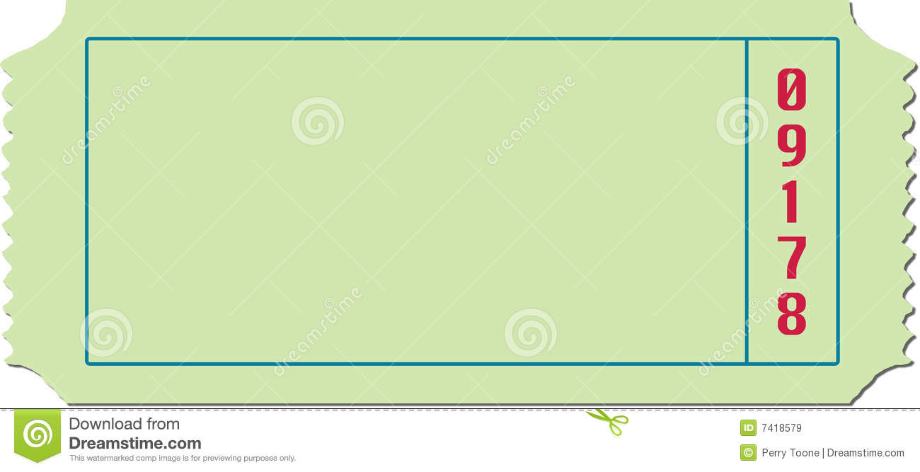 Blank Ticket Illustration Royalty Free Stock Images - Image: 7418579