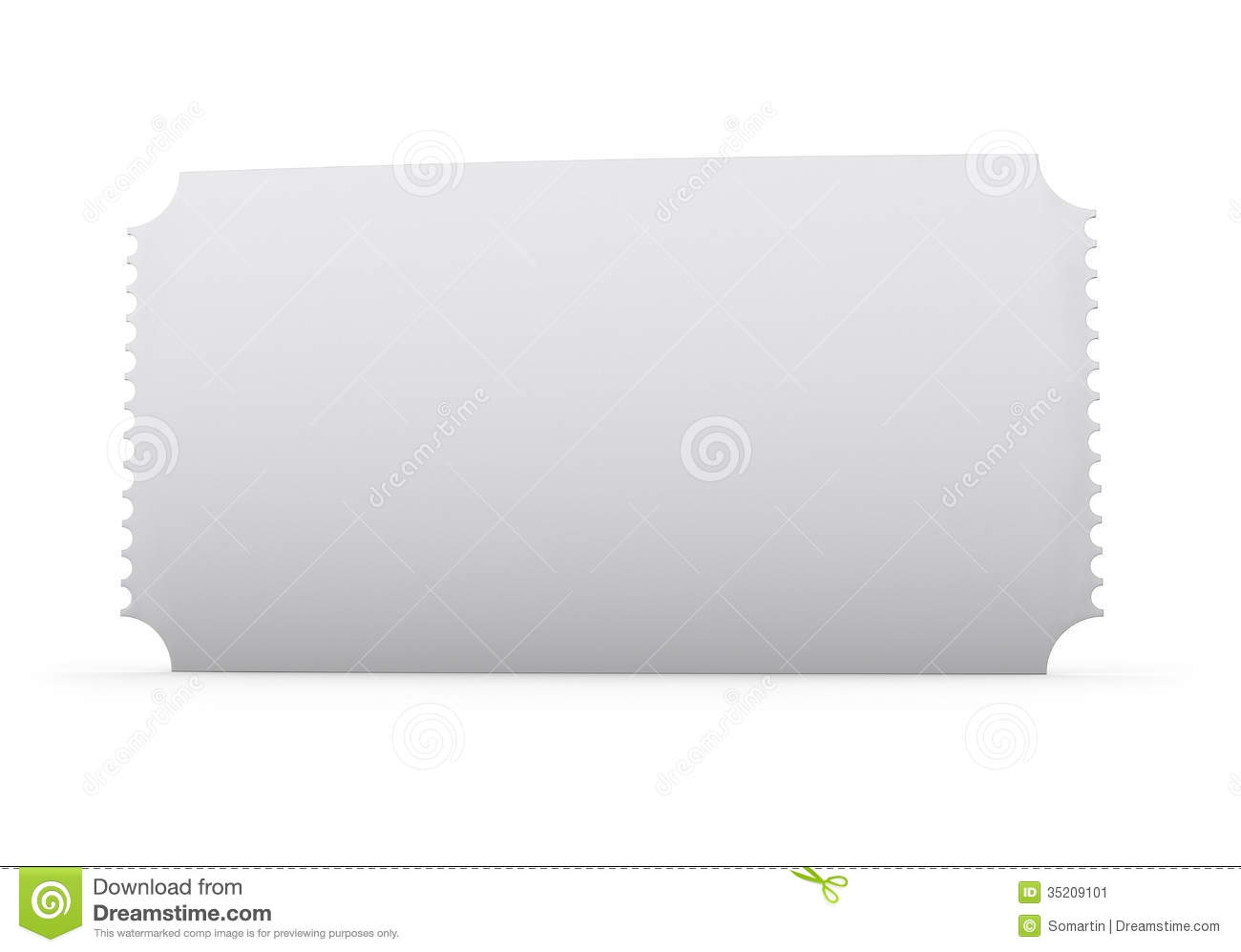 blank ticket stock image