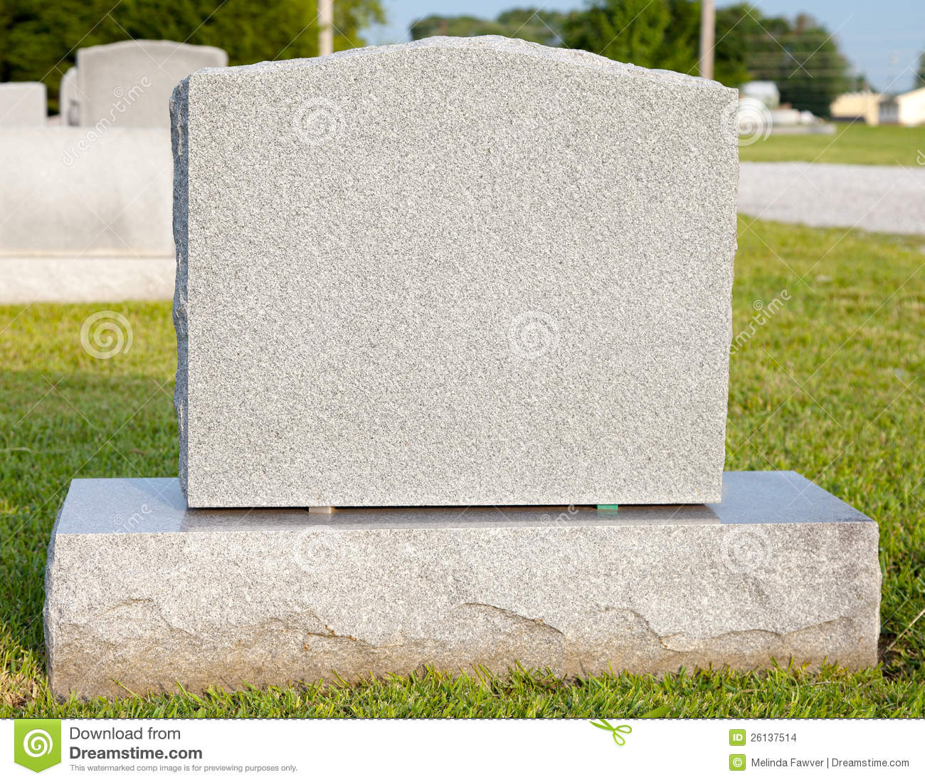 Blank Tombstone stock photo. Image of monument, symbol ...