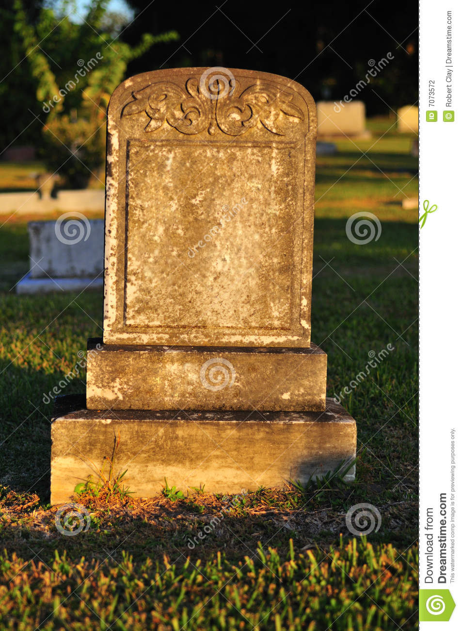 Blank Tombstone Stock Photography Image 7073572