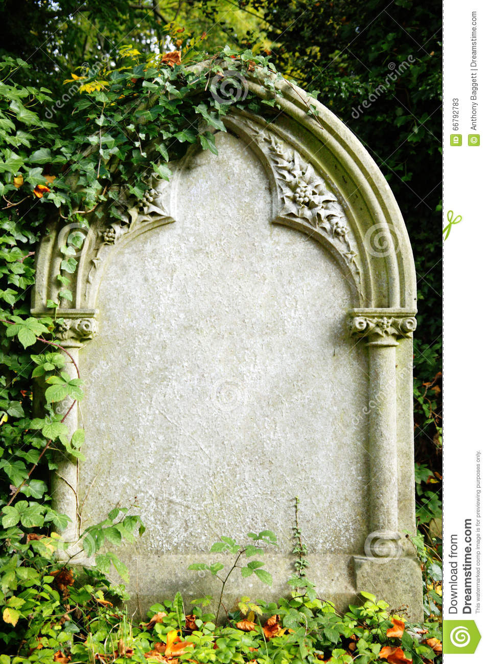 ... with copy space for Halloween gravestone horror death background