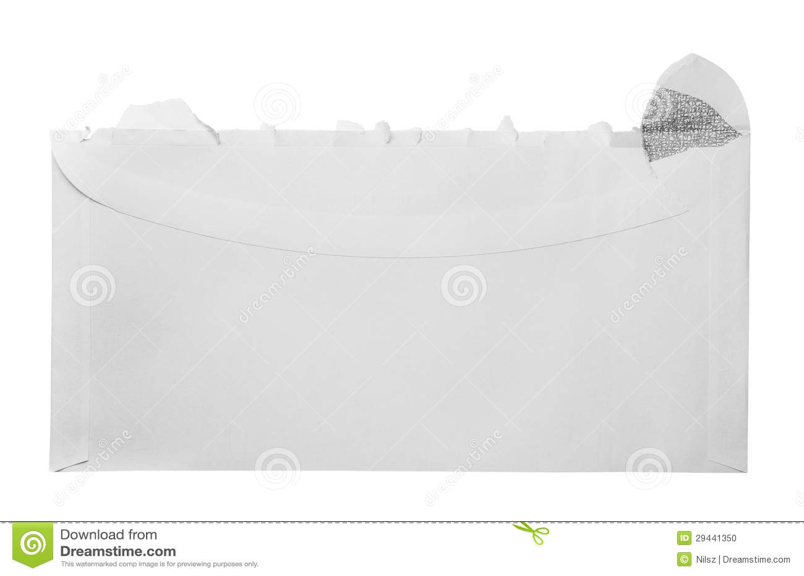 blank torn open envelope stock photo  image of correspondence