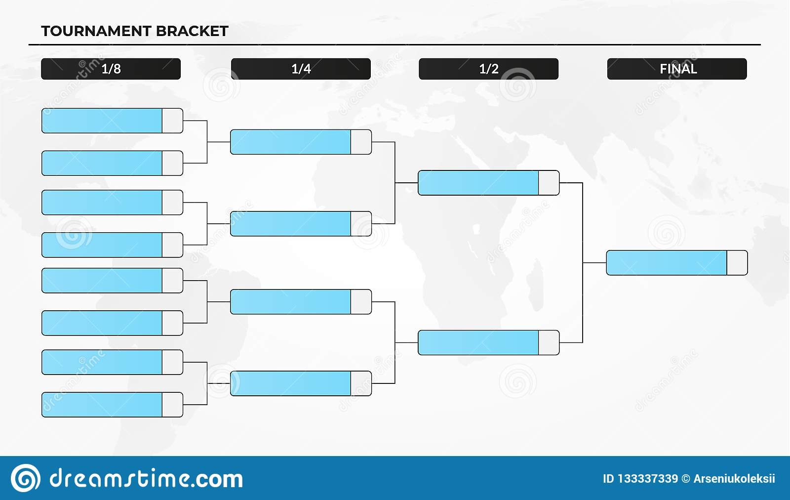 graphic regarding Printable World Cup Bracket called Blank Event Bracket Template For World-wide Cup Compeions