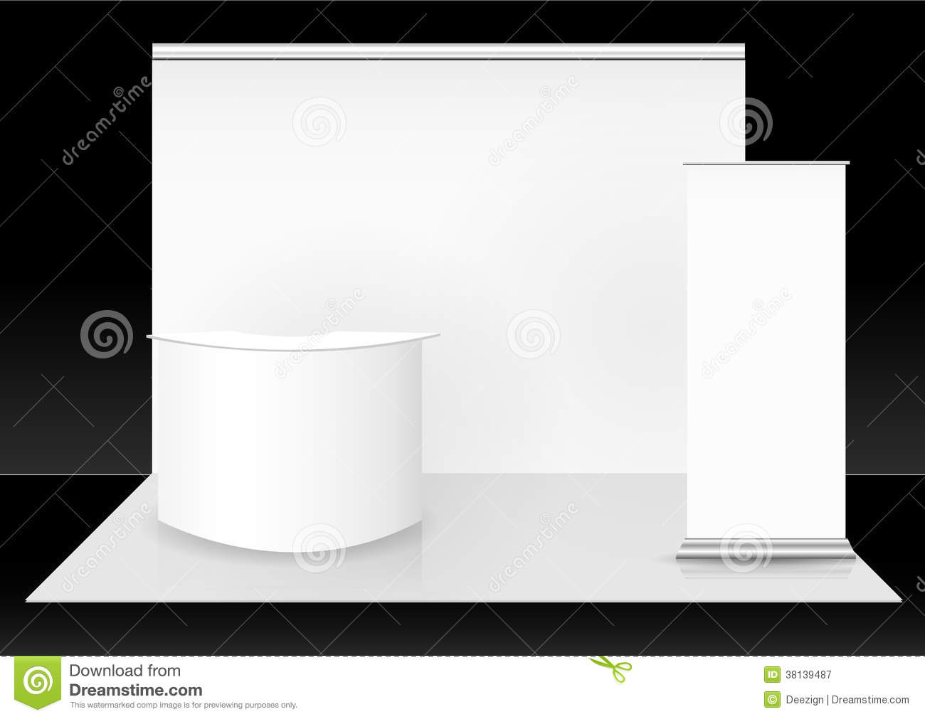 Exhibition Booth Vector Free Download : Blank trade show booth stock vector image of canvas