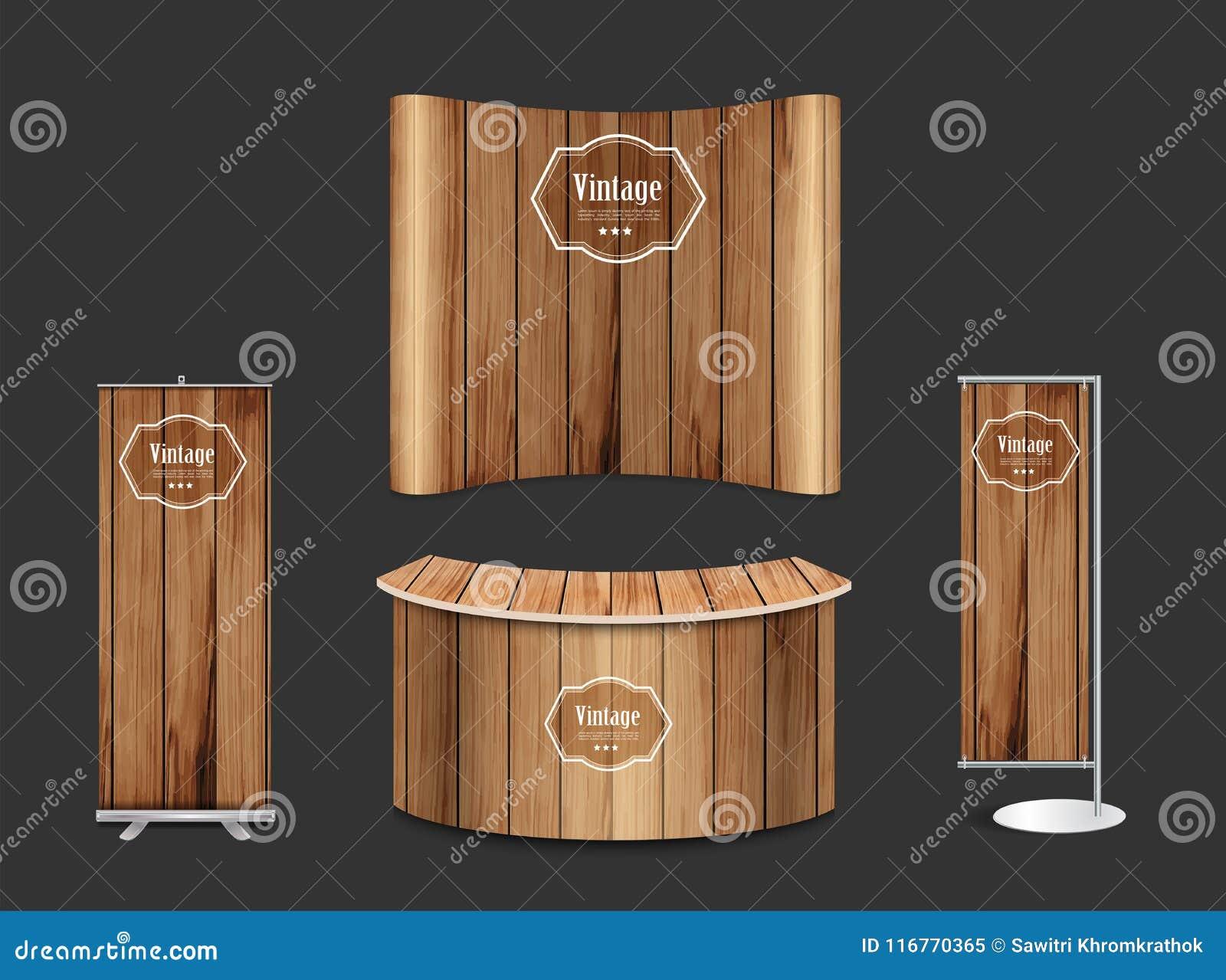 Exhibition Stand Design Mockup Free : Creative exhibition stand display design info stock vector