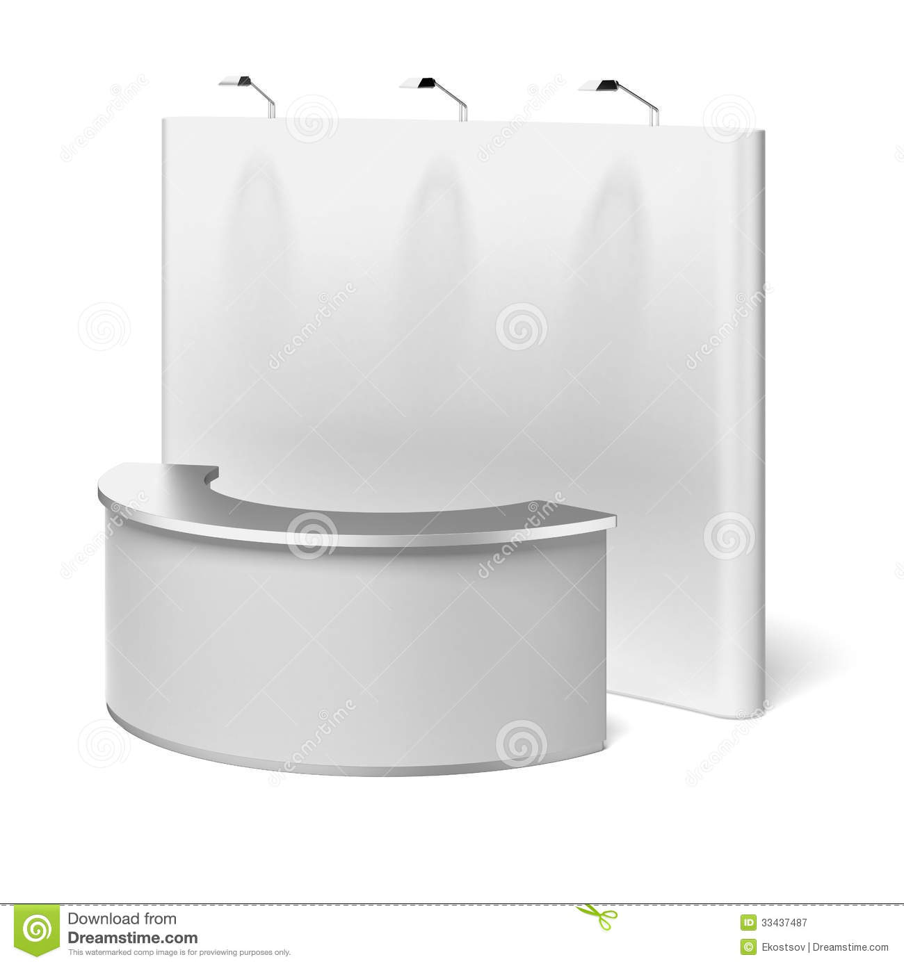 Exhibition Booth Template Free : Blank trade show booth stock illustration of