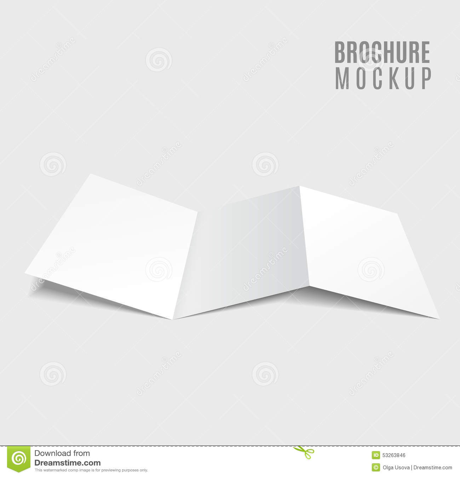 Blank Trifold Brochure Vector Image 53263846 – Free Blank Tri Fold Brochure Templates