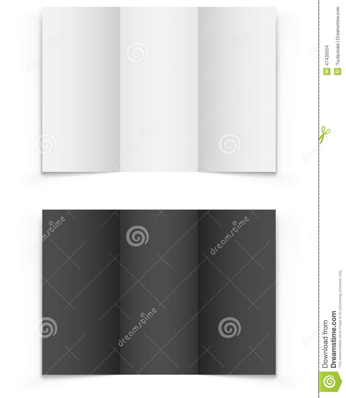 Blank Trifold Brochure Vector Image 47435554 – Blank Tri Fold Brochure Template
