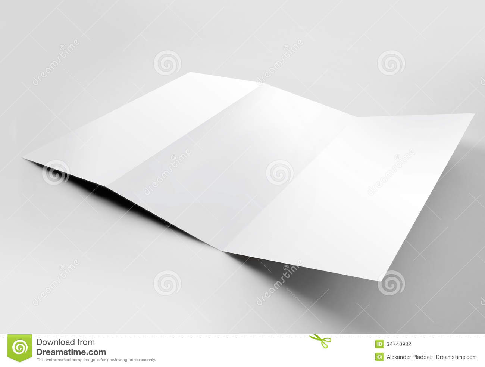 Blank Trifold Brochure Photography Image 34740982 – Blank Tri Fold Brochure Template