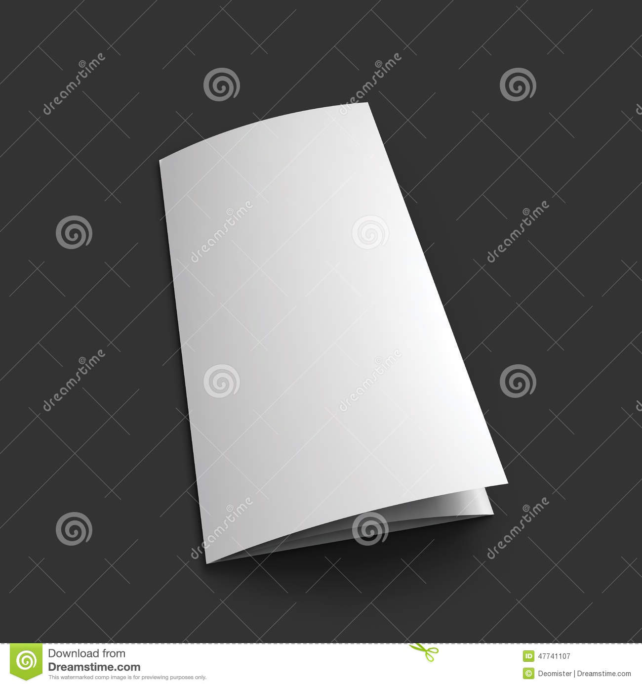 Blank trifold paper brochure mockup template stock vector for Paper brochure holder template