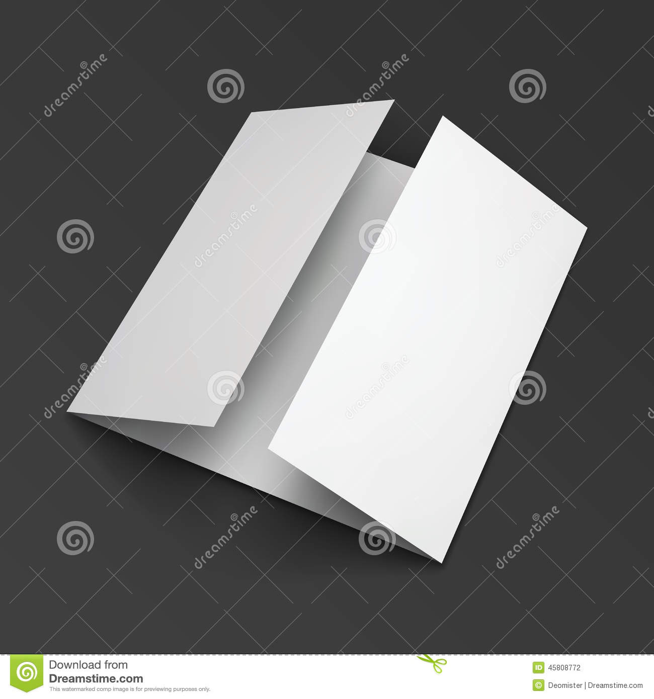 blank trifold paper brochure stock vector illustration of date