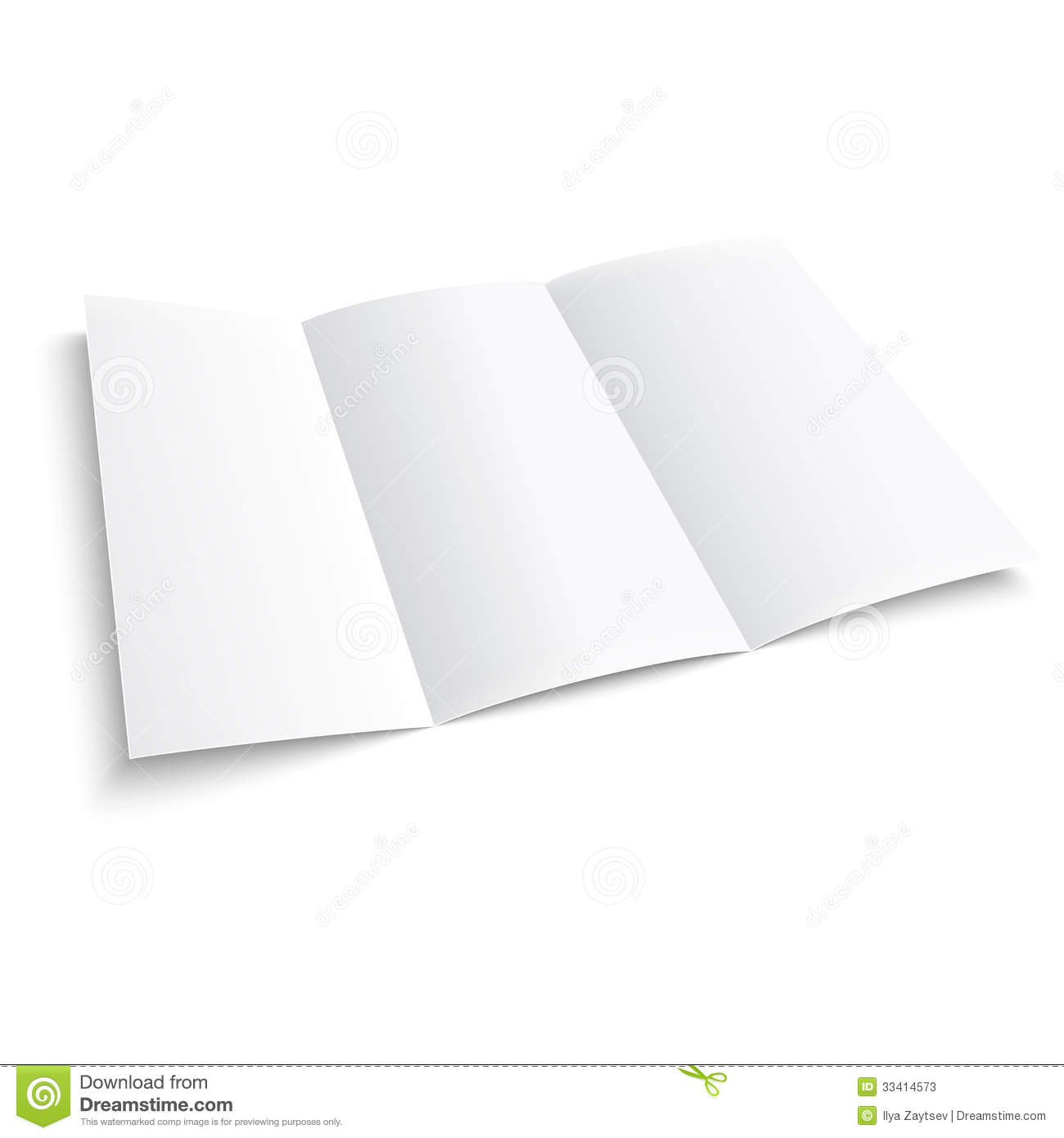 Blank trifold paper brochure stock vector image 33414573 for Paper brochure holder template