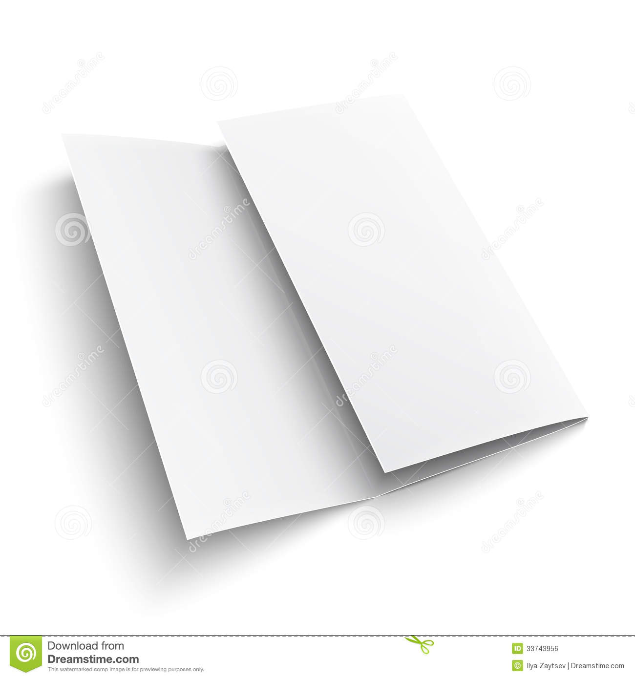 Blank Trifold Paper Brochure. Royalty Free Stock Image - Image ...